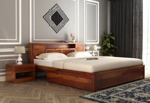 wooden queen size cots