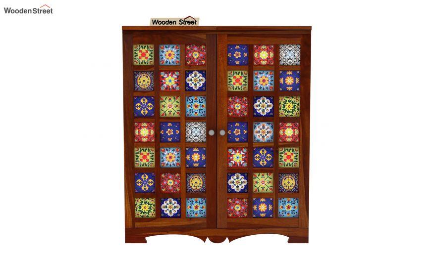Boho Bar Cabinet (Honey Finish)-6
