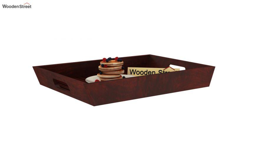 Krato Wooden Tray (Mahogany Finish)-2
