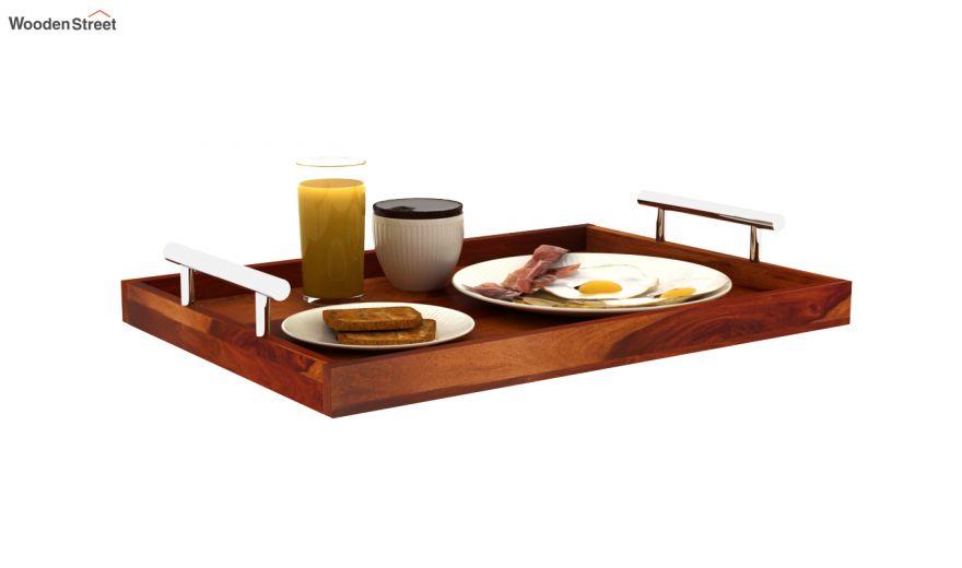 Trojan Wooden Tray (Honey Finish)-2