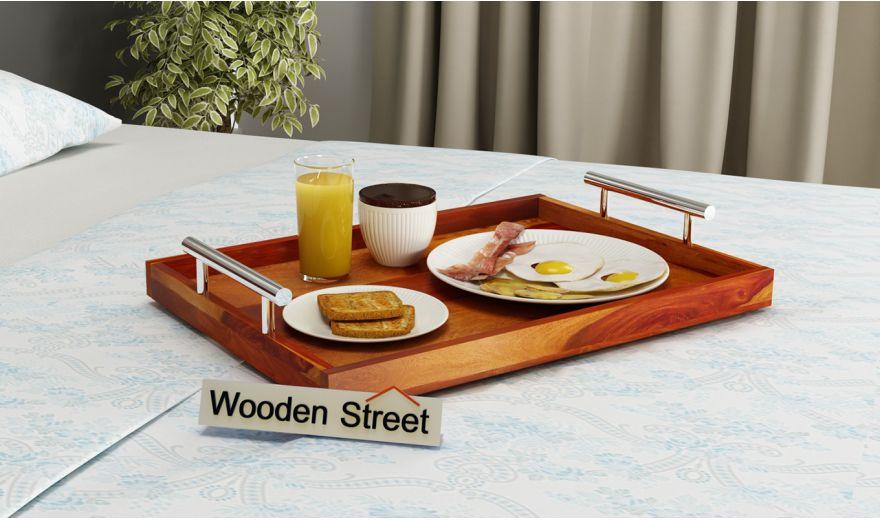 Trojan Wooden Tray (Honey Finish)-1