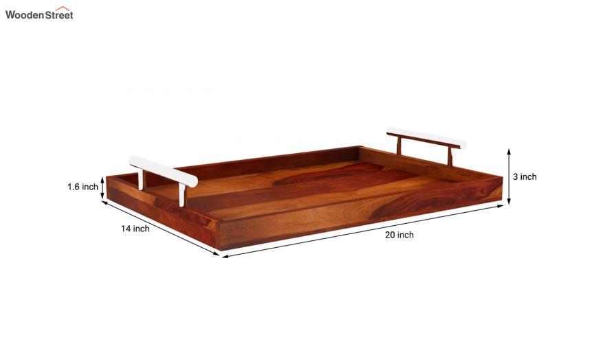 Trojan Wooden Tray (Honey Finish)-6