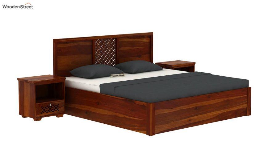 Cambrey Hydraulic Bed (King Size, Honey Finish)-2