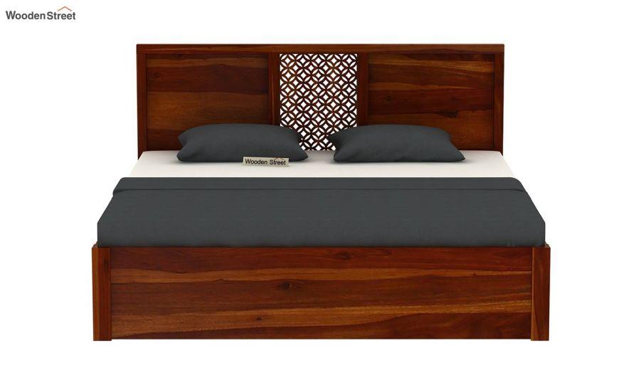 Cambrey Hydraulic Bed (King Size, Honey Finish)-5