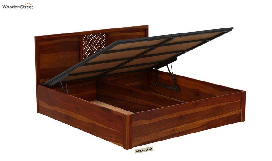 Cambrey Hydraulic Bed (King Size, Honey Finish)-6