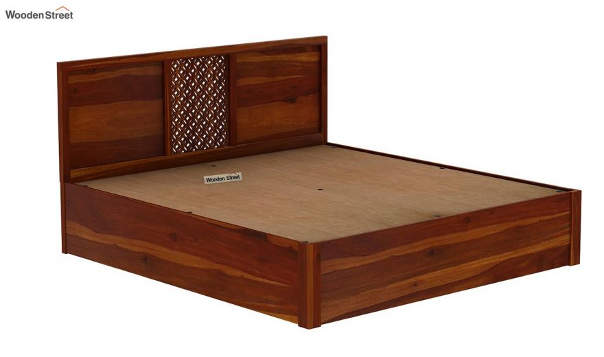 Cambrey Hydraulic Bed (King Size, Honey Finish)-8