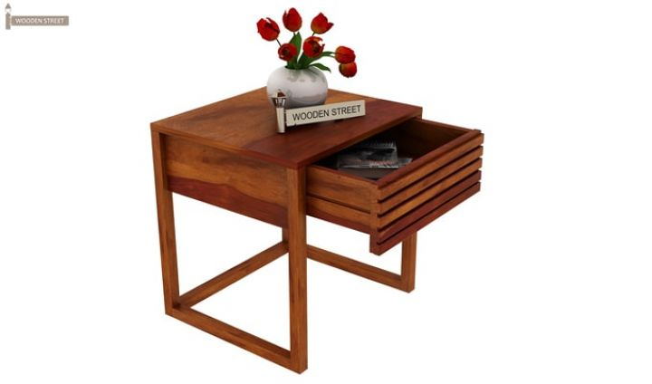 Costas Bedside Table (Honey Finish)-4