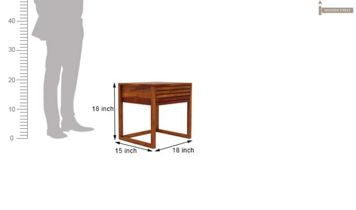 Costas Bedside Table (Honey Finish)-6