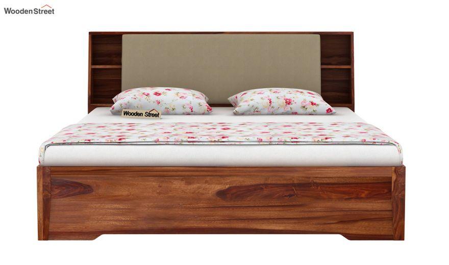 Telos Hydraulic Bed (Queen Size,Teak Finish)-5