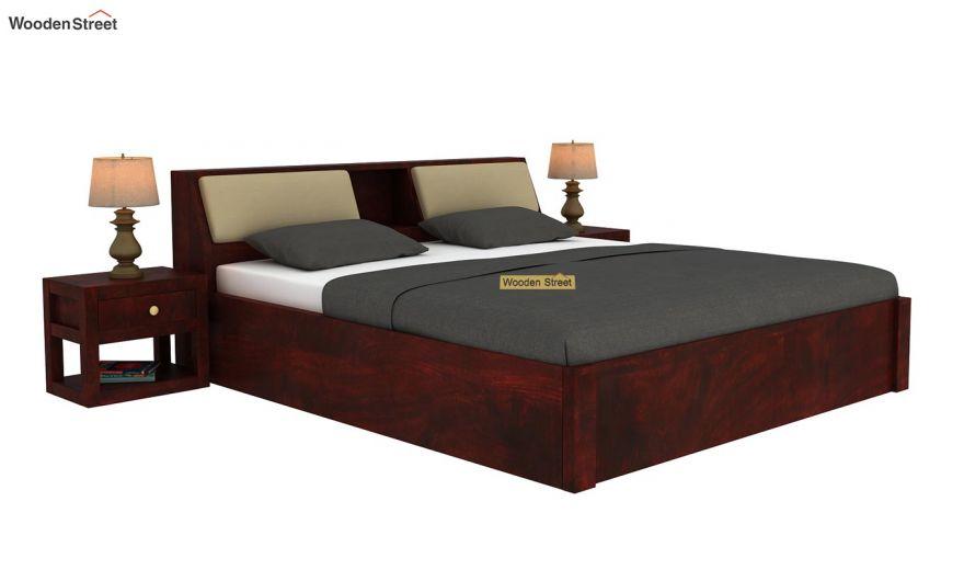 Walken Hydraulic Bed (Queen Size, Mahogany Finish)-2