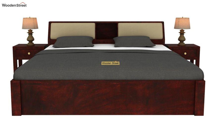 Walken Hydraulic Bed (Queen Size, Mahogany Finish)-3