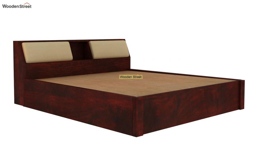 Walken Hydraulic Bed (Queen Size, Mahogany Finish)-7