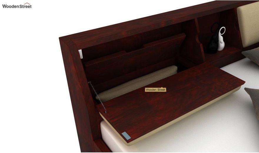 Walken Hydraulic Bed (Queen Size, Mahogany Finish)-5