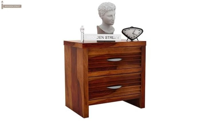 Gayle Bedside Table (Honey Finish)-2