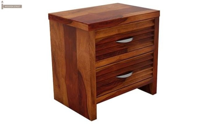 Gayle Bedside Table (Honey Finish)-3