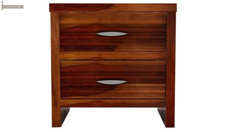Gayle Bedside Table (Honey Finish)-4