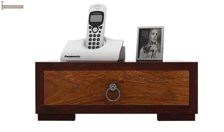 Melisandre Bedside Table (Mahogany Finish)-4