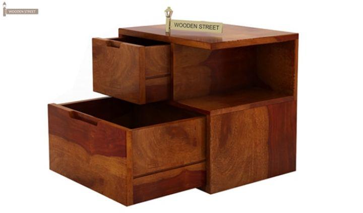 Adrian Bedside Table (Honey Finish)-5