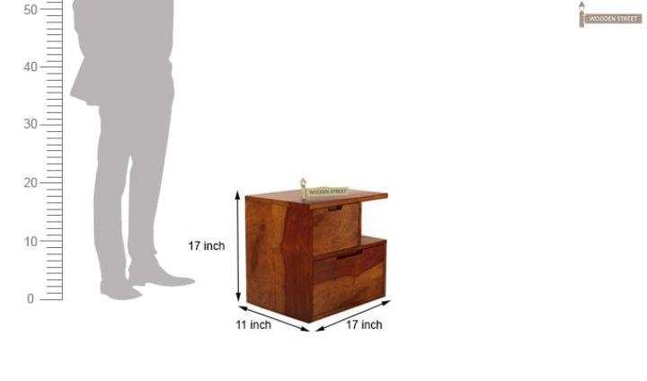 Adrian Bedside Table (Honey Finish)-6