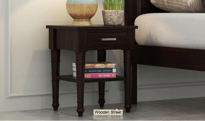 Allan Bedside Table (Walnut Finish)-1