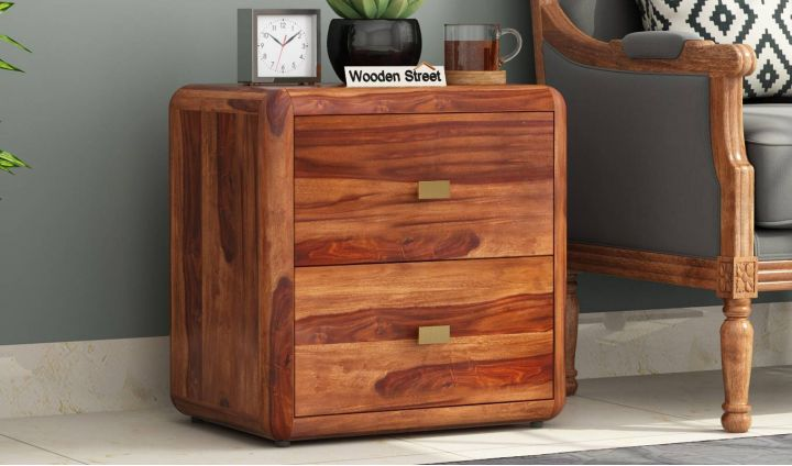 Aron Bedside Table (Teak Finish)-1