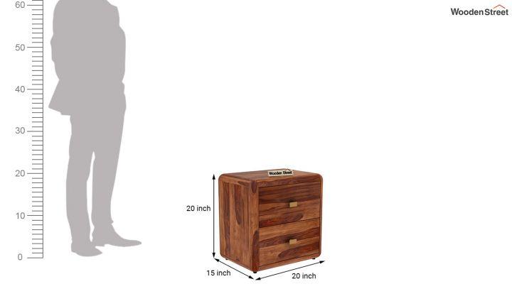 Aron Bedside Table (Teak Finish)-5