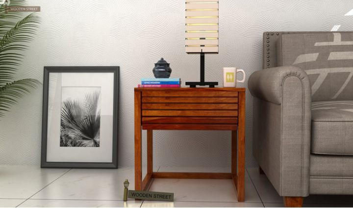 Costas Bedside Table (Honey Finish)-1