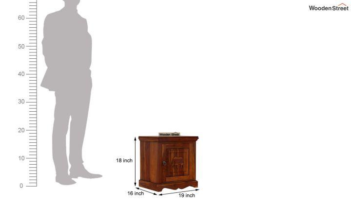 Emboss Bedside Table (Honey Finish)-6
