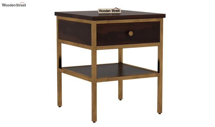 Grapho Bedside Table (Walnut Finish)-2
