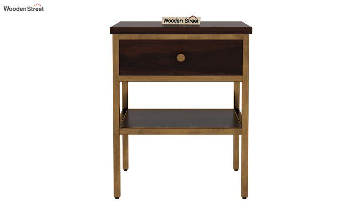 Grapho Bedside Table (Walnut Finish)-3
