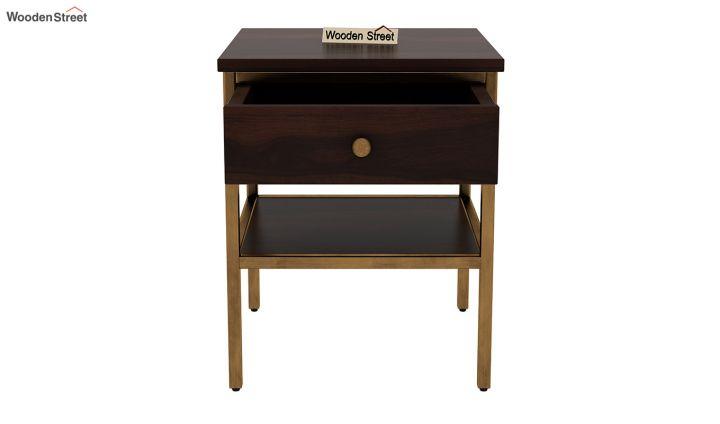 Grapho Bedside Table (Walnut Finish)-5