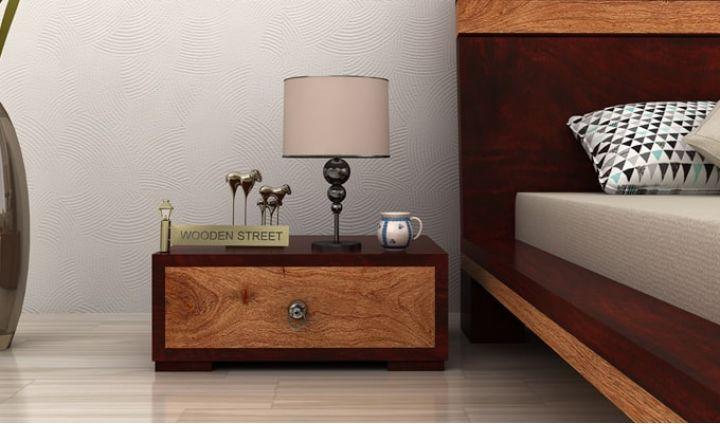 Melisandre Bedside Table (Mahogany Finish)-1