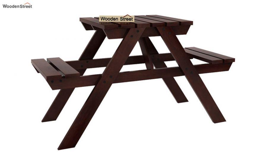 Soho Two Seater Bench (Walnut Finish)-2