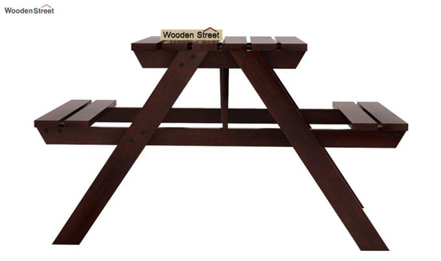 Soho Two Seater Bench (Walnut Finish)-3