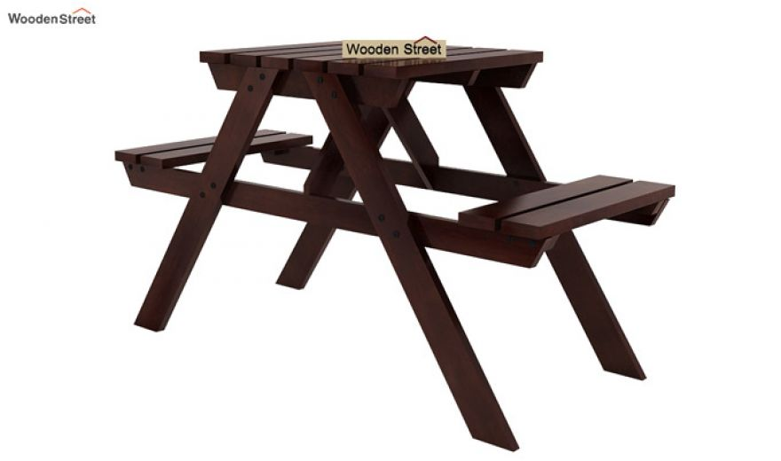 Soho Two Seater Bench (Walnut Finish)-5