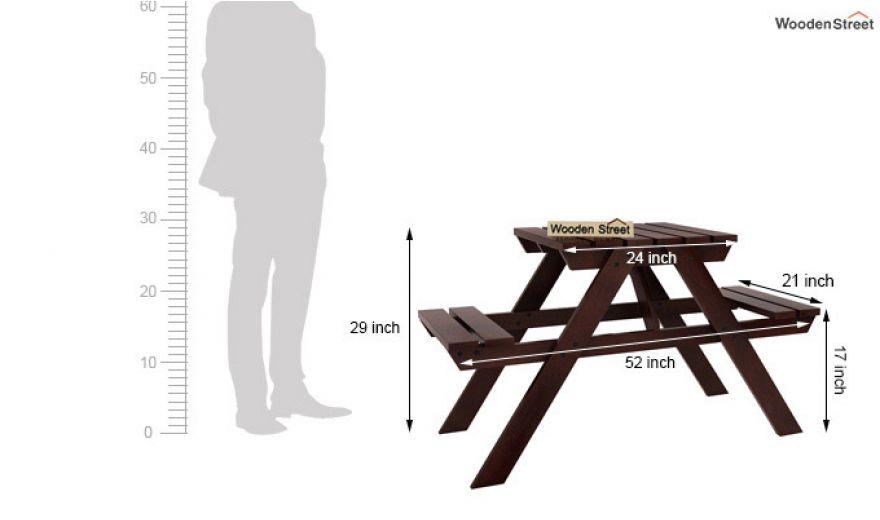 Soho Two Seater Bench (Walnut Finish)-6