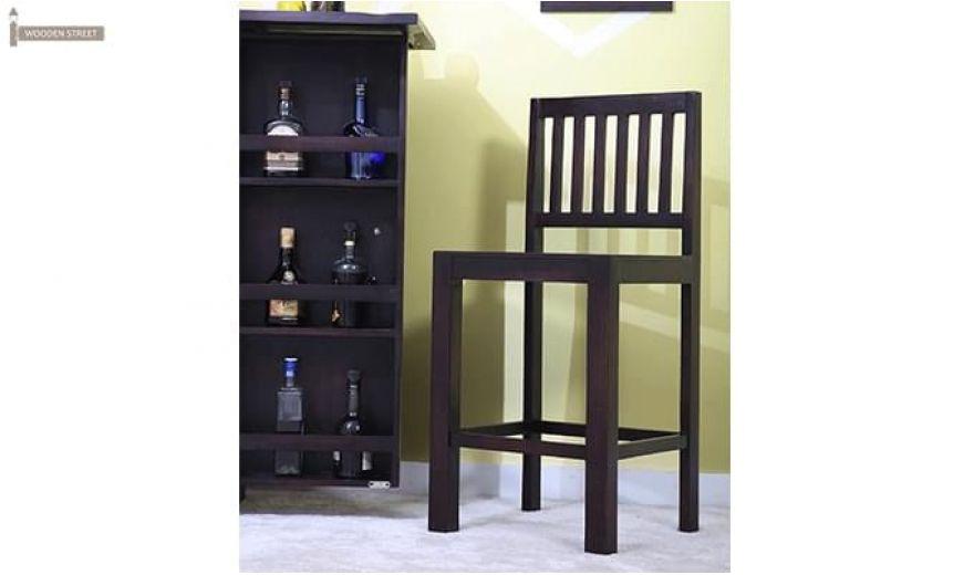 Neel Bar Chair (Mahogany Finish)-1