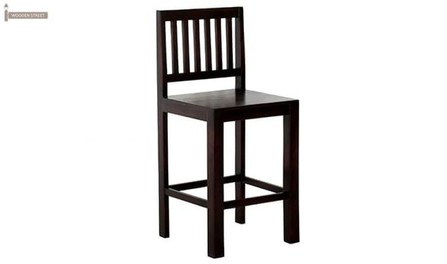 Neel Bar Chair (Mahogany Finish)-2