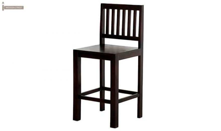 Neel Bar Chair (Mahogany Finish)-4