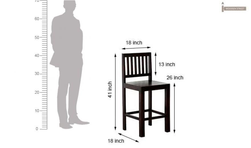 Neel Bar Chair (Mahogany Finish)-5