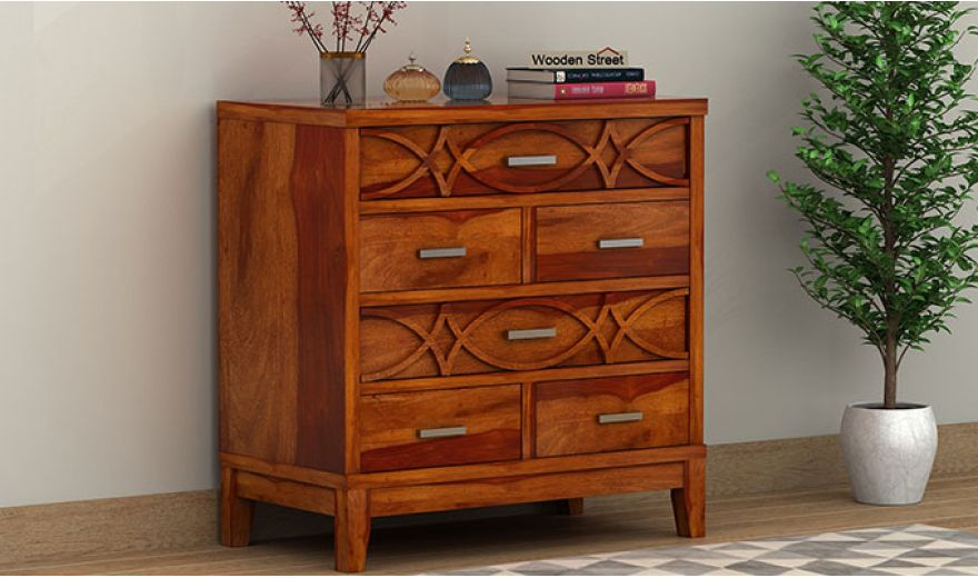 Allan Chest of Drawers (Honey Finish)-1