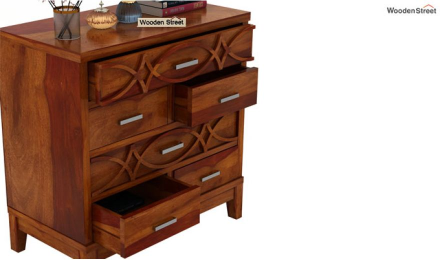 Allan Chest of Drawers (Honey Finish)-5