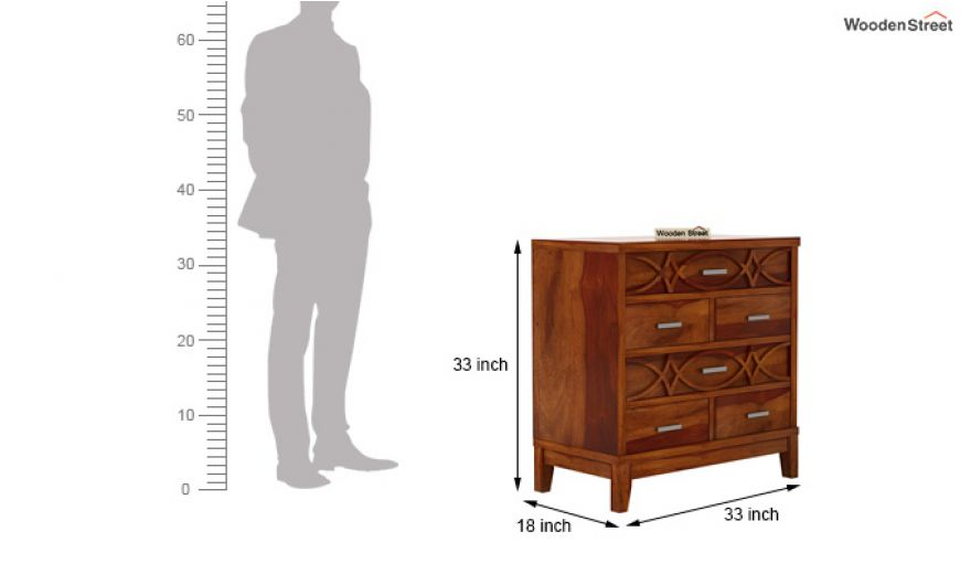 Allan Chest of Drawers (Honey Finish)-6