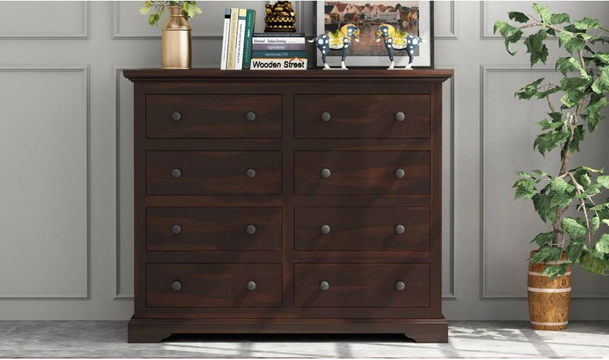 Angelo Chest of Drawers (Walnut Finish)-2