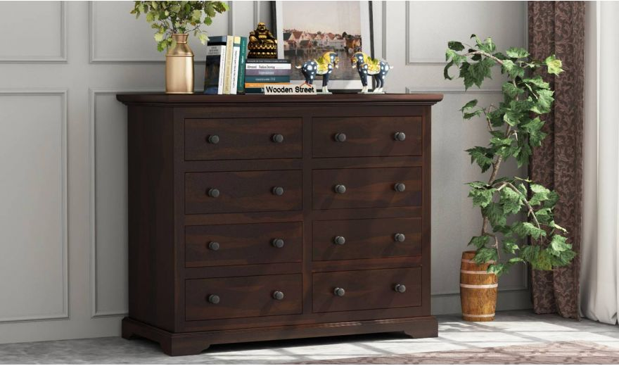 Angelo Chest of Drawers (Walnut Finish)-1