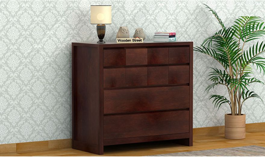 Barry Chest of Drawers (Walnut Finish)-1
