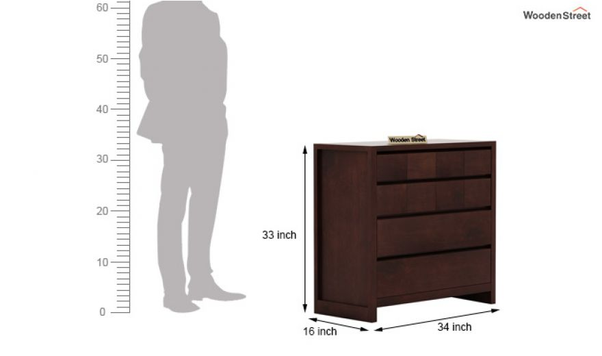 Barry Chest of Drawers (Walnut Finish)-6