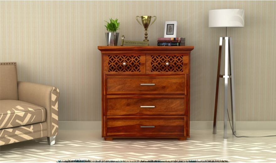 Cambrey Chest of Drawers (Honey Finish)-1