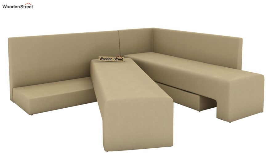 Mckellen L Shape Right Aligned Corner Sofa Cum Bed (Irish Cream)-6