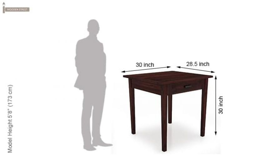 Aldore 2 Seater Dining Table Set (Mahogany Finish)-6